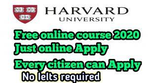 harvard university online courses 2020 free