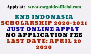 knb indonesia scholarship
