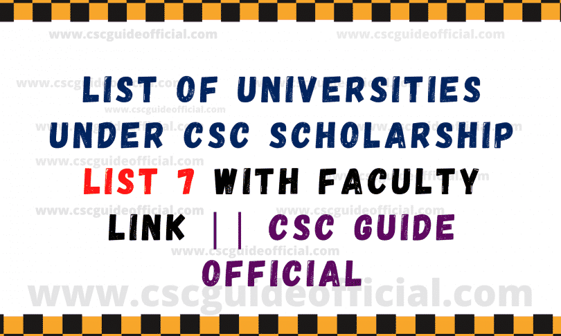 china scholarship universities faculty links