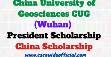 cug wuhan president scholarship 2020