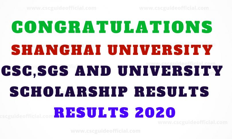shanghai university results 2020