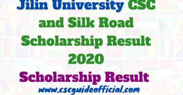 jilin university csc result 2020