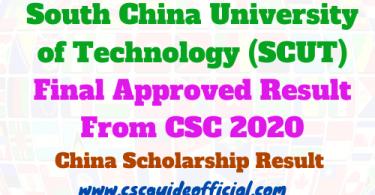 scut final csc aproved list 2020