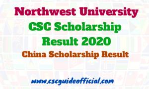 northwest university csc result 2020