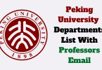 peking university professors emails