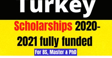 Turkey 2021 scholarships