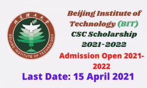Beijing institute of technology scholarship 2021