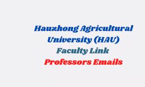 hauzhongagricultural university hau faculty professors emails