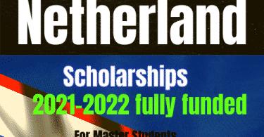 Netherland scholarships 2021