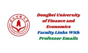 dufe university professors emails for acceptance letter