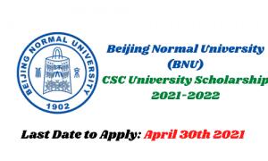 bnu csc scholarship 2021