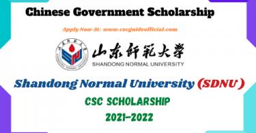 shandong normal university csc scholarship 2021