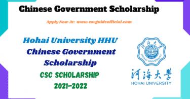 hohai university csc scholarship 2021 2022