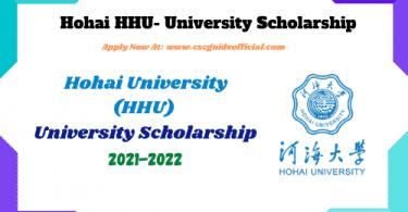 hohai university scholarship 2021 2022