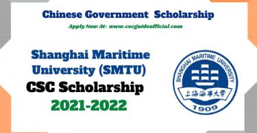 Shanghai Maritime University csc scholarship 2021