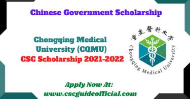 chongqing medical university csc scholarship 2021 csc guide official