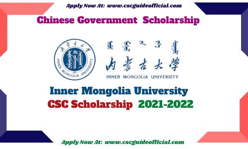 inner mongolia university csc scholarship 2021 csc guide official