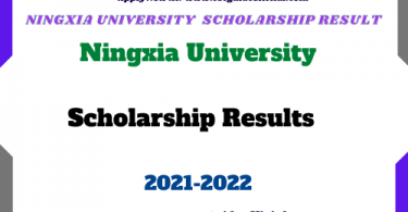 Ningxia University Scholarship results