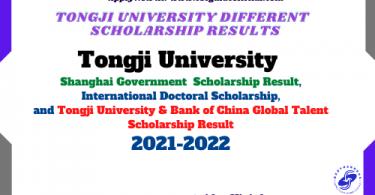 tongji university scholarship result 2021 csc guide official