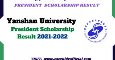 yanshan university president scholarship 2021 csc guide official