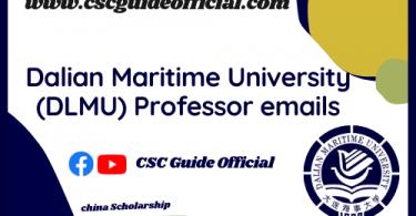 dalian maritime university professor emails csc guide official