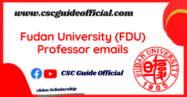 fudan university professors emails csc guide official