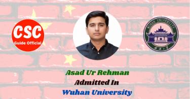 Asad Ur Rehman wuhan university csc guide official