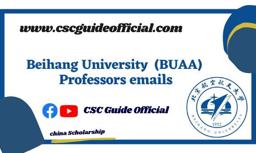 Beihang University professors emails csc guide official