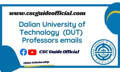 Dalian university of technology professors emails