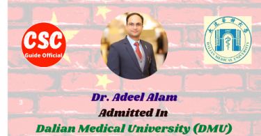 Dr. Adeel Alam PHD Scholar Dalian medical university csc guide official