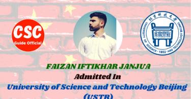 FAIZAN IFTIKHAR JANJUA University of Science and Technology Beijing (USTB)