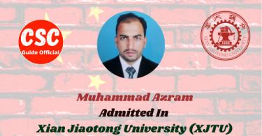 Muhammad Azram XJTU CSC Guide Official