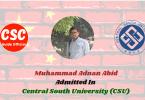 Muhammad adnan abid Central South University (CSU) CSC Guide Official