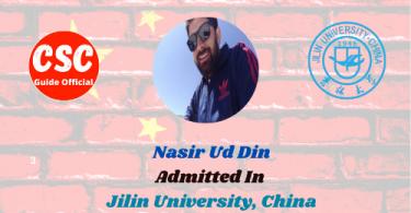Nasir Ud Din Jilin university CSC Guide Official