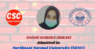 OMME HABIBA Northeast Normal University (NENU) CSC Guide Official
