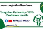 Yangzhou University professors emails csc guide official