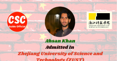 ahsan khan Zhejiang University of Science and Technology Master Scholar
