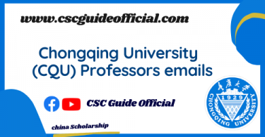 chongqing university professors emails csc guide