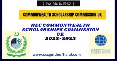 hec common wealth scholarship uk
