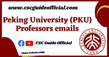 peking university Professors emails csc guide