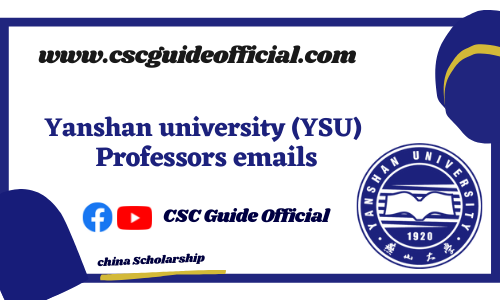 yanshan university professors emails csc guide official