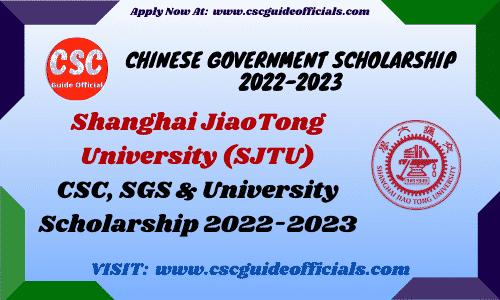 sjtu csc scholarship 2022-2023